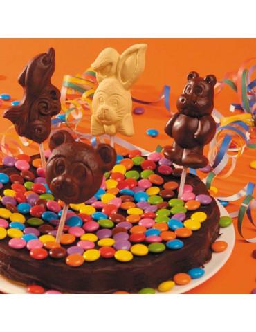 Moule alimentaire sucettes chocolats