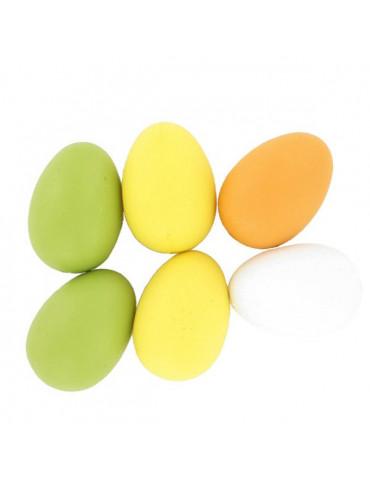 Oeuf plastique 60mm x6 - 4 couleurs