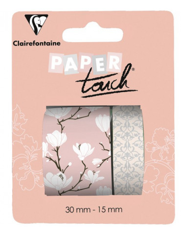 Masking tape Clairefontaine - Magnolia - 2 rouleaux