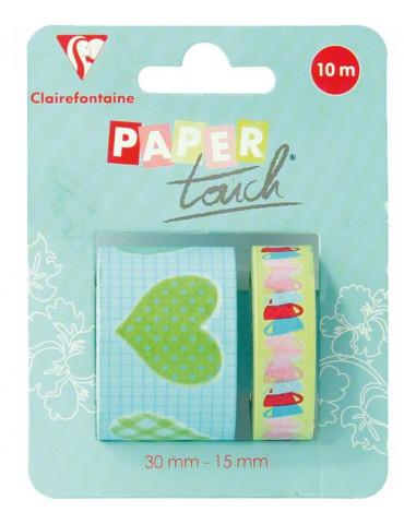 Masking tape Clairefontaine - Souvenirs d'enfance - 2 rouleaux assortis