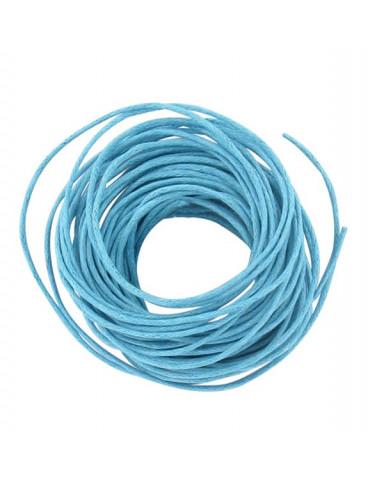 Coton ciré 1mm Turquoise - 5m