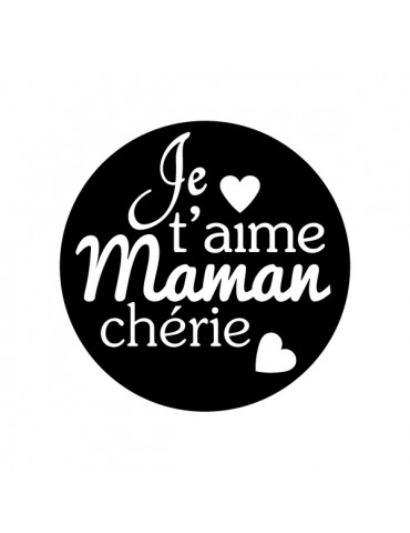 Tampon transparent - Maman - 4x4 cm - Artemio