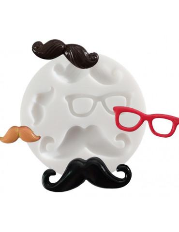 Mini moule silicone - Moustaches - DTM