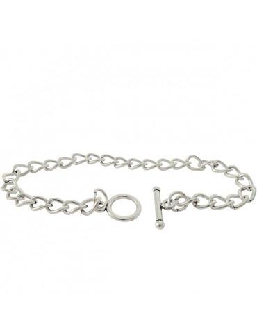 Bracelet maille 18cm - Argent - DTM
