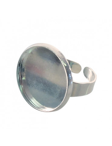 Support bague cabochon - Bague ronde argent 20mm