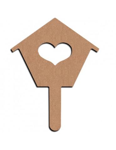 Gomille - Support bois  Plantoir maison - 15 cm