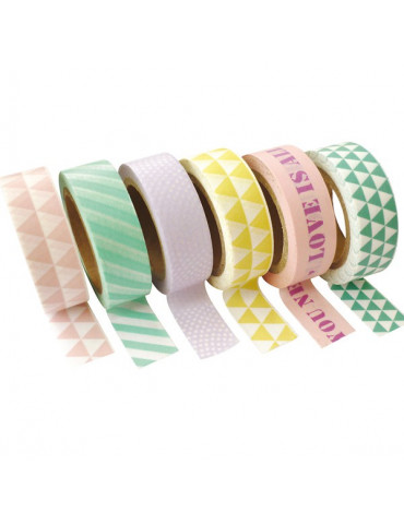 Masking tape - Assortiment Pastel 15mm x10m