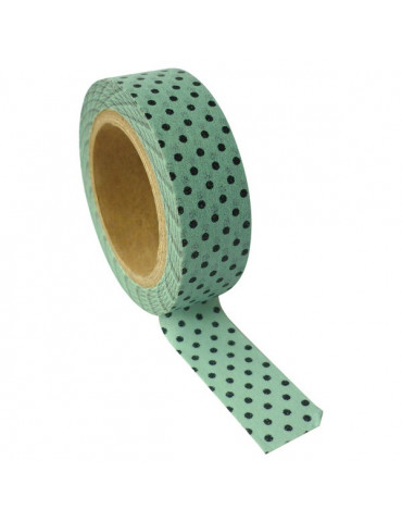 Masking tape - Menthe à pois 15mm