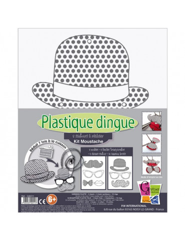 Kit Plastique dingue Sautoirs Moustache