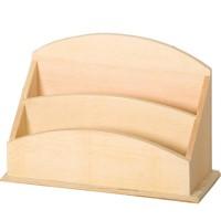 support bois d corer range courrier 2 compartiments. Black Bedroom Furniture Sets. Home Design Ideas