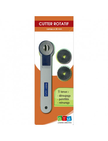 Cutter rotatif 3 lames