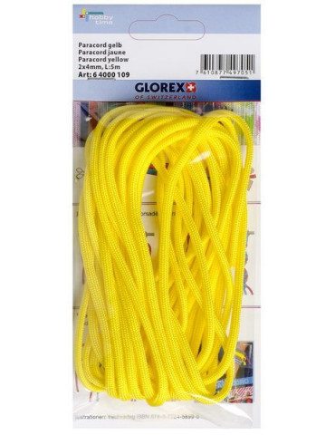 Paracorde 2x4mm, 5m jaune - Glorex