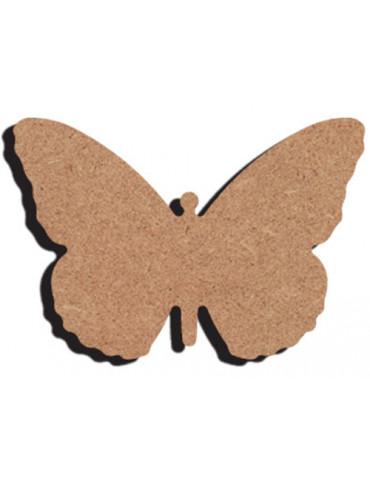Support bois - Papillon 2 10cm