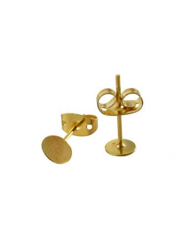 Support Boucle d'oreille clou doré 12mm x6