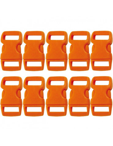 Fermoir clip orange 10mm x10