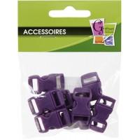 Fermoir à clip violet 10mm x10