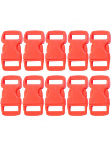Fermoir clip plastique rouge 10mm x10