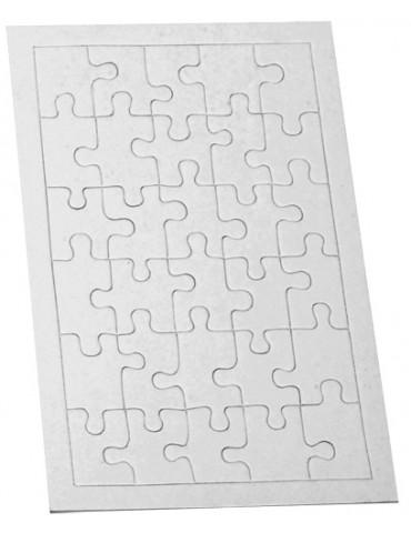 Puzzle carton blanc - 30...