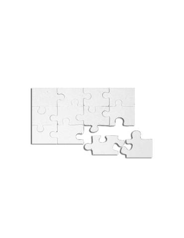 Puzzle carton blanc - 12...