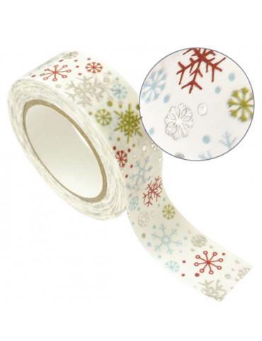 Masking tape - Flocons argent métal 15mm x10m