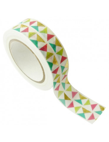Masking tape - Triangles Or métal 15mm x10m