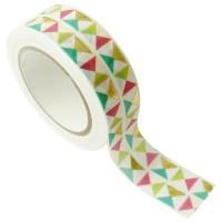 Masking tape - Triangles Or métal 15mm x10m