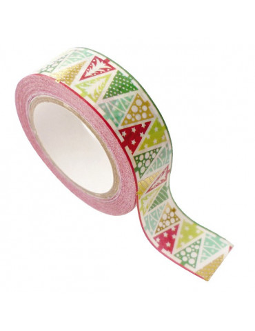 Masking tape - Sapin Or métal 15mm x10m