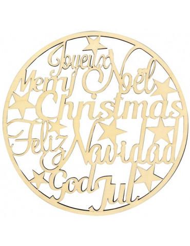 Silhouette Noël - Joyeux Noel en bois 30cm