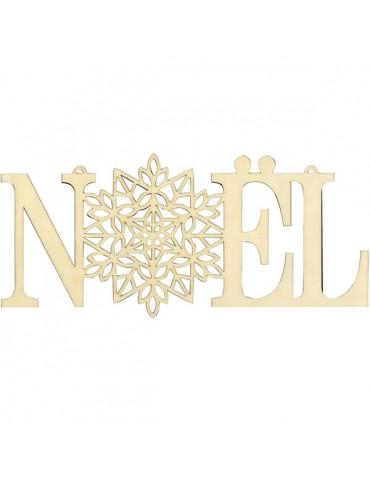 Silhouette Noël - Mot en bois Noël 35cm