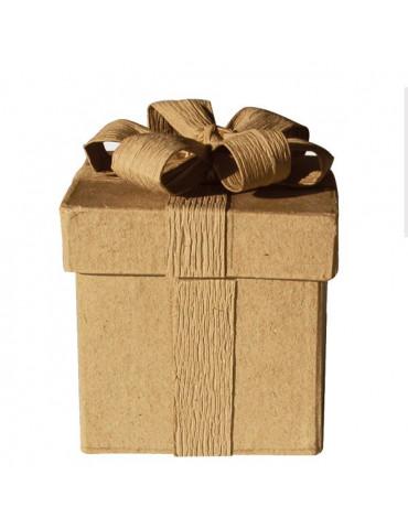 Boite carton carrée avec noeud 6x5 cm