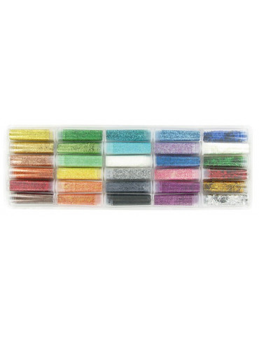 Set 30 tubes paillettes diamantines de 5g