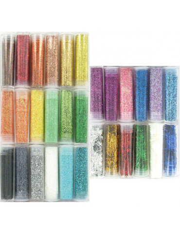 Set 30 tubes paillettes...