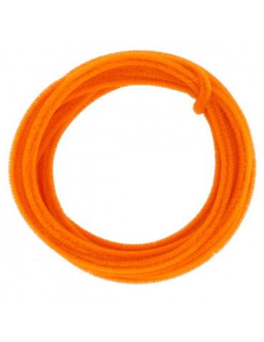 Fil chenille Orange 8mm - rouleau 5m