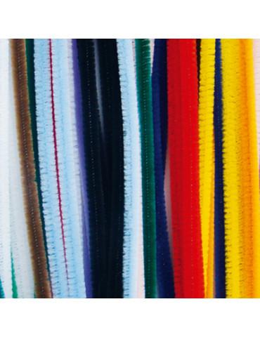 Fils chenille multicolores...