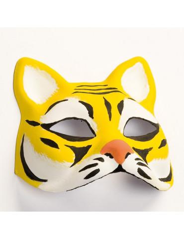 Masque enfant Chat - Finition plâtre