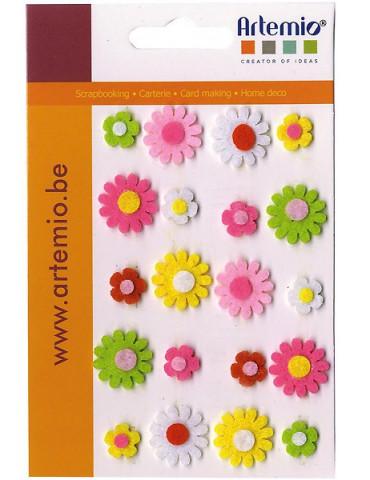 Formes feutre Mini fleurs...