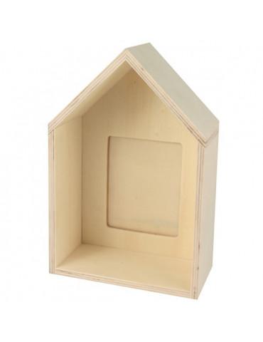 Porte-photo maison 16cm pour photo 5x7cm