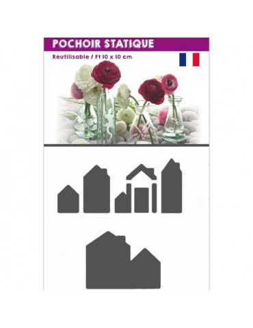 Pochoir statique Maison -...