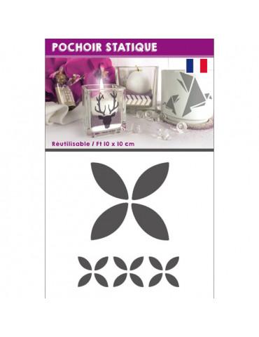 Pochoir statique Bateau origami - 10x10cm