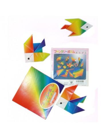 Papier origami Arc en ciel...