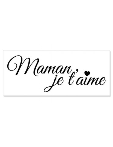 Tampon bois C - Maman Je t'aime - Artemio
