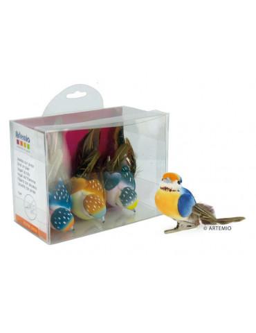 Oiseaux décoratifs pois 9cm x3