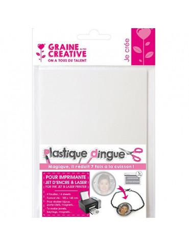 Plastique dingue imprimable x4 - 10,5x14,6cm