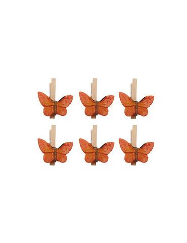 Pinces à linge papillon...