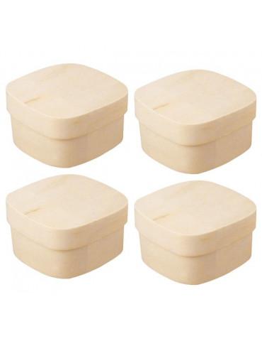 Boite carré en copeaux bois x4