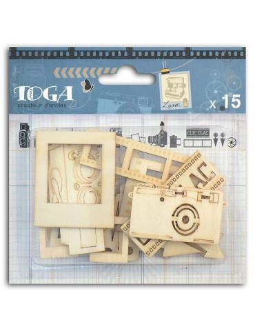 Formes en bois Photographic - 15 pièces - Toga