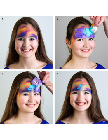 Pochoir maquillage - Galaxie