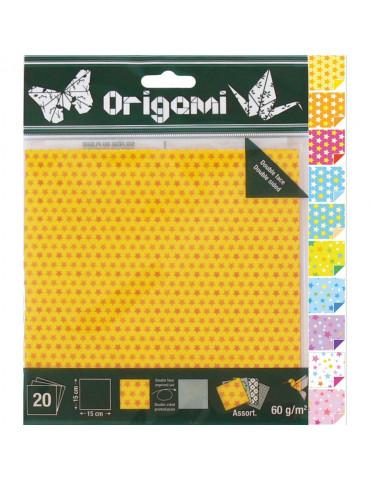 Papier origami Bulles 15x15cm - 20 feuilles