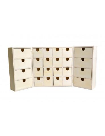 Calendrier de l'Avent bois - Armoire 27,5 cm
