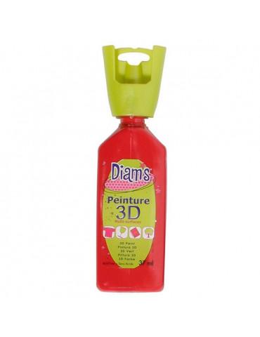 Peinture DIAM'S 3D brillante rouge